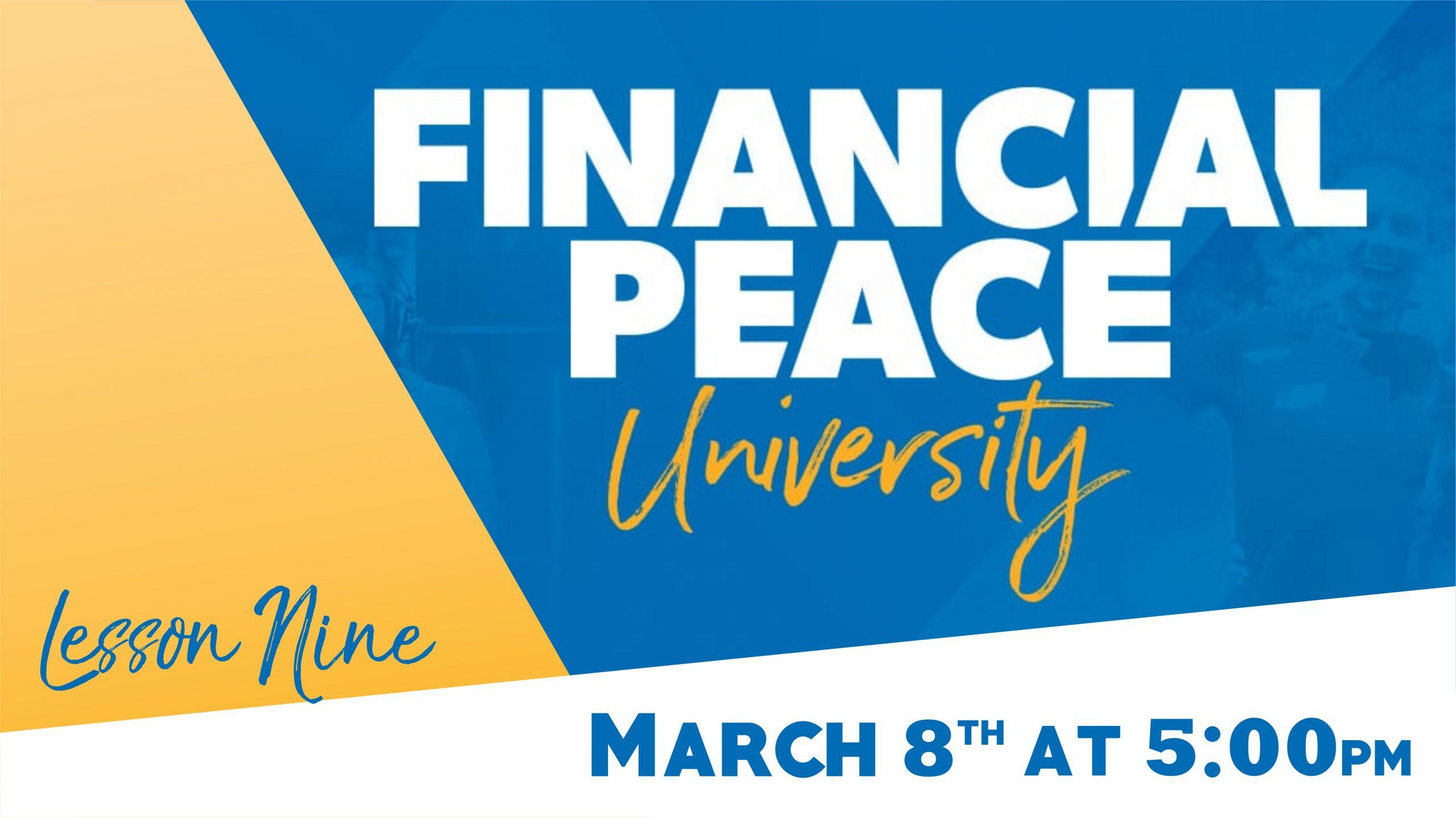Financial Peace University_SLIDE 9